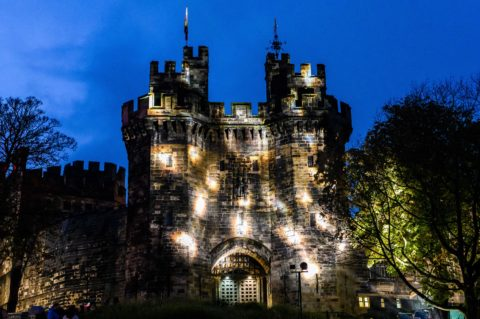 Lancaster Castle at Light Up Lancaster 2019 Credit Robin Zahler