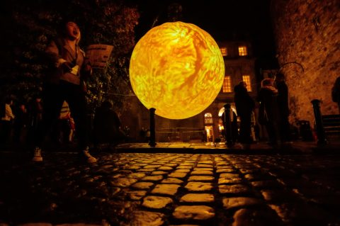 SUN by Alex Rinsler and Prof Robert Walsh and Blackpool Illuminations at Light Up Lancaster 2019 Credit Robin Zahler